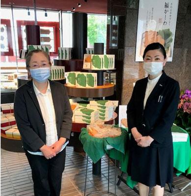 (左)弊会所属・菅原理事 (右)きのとや 白石本店 佐藤部長