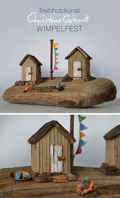 Christine Grandt - Treibholzkunst, maritime Geschenke, Miniaturen, Skulpturen aus Strandgut für die Wand oder zum Hinstellen