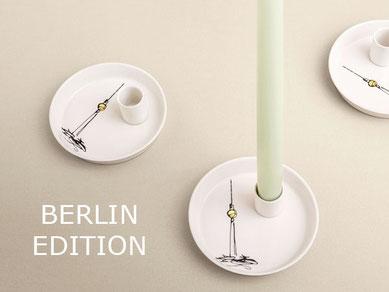 Berlin Souvenir Kerzenhalter Porzellan