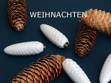 Weihnachtsschmuck Porzellan Kugeln Zapfen Berlin Baumschmuck Porzellan