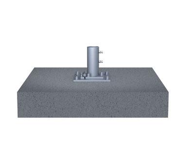 Ankerplatte may SCHATTELLO zum Aufdübeln auf ein Betonfundament Sonnenschirm Befestigung