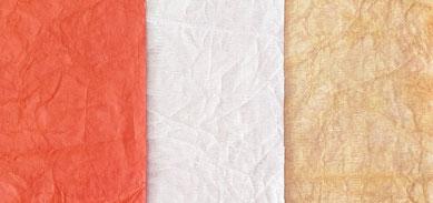 translucides Papier auf Baumwollgaze