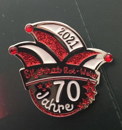 Unsere Plakette zur Session 2021 - 70 Jahre Elferrat Rot-Weiss