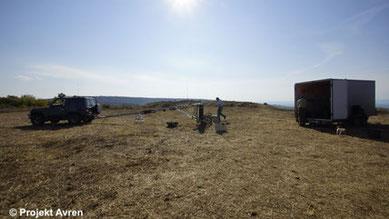 Geomagnetische Prospektion im Jahre 2016 in Avren-Bobata.