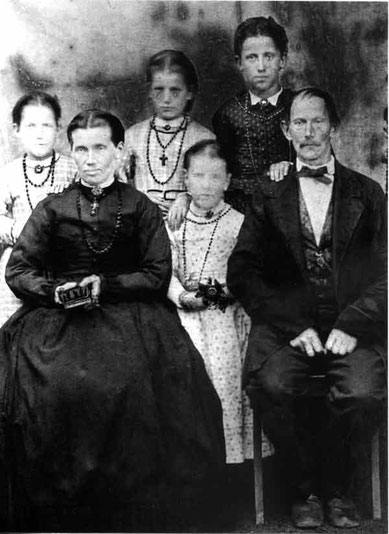 Familie Johann Michael Schmid, fotografiert 1877