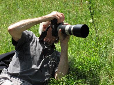 Le photographe en pleine action !