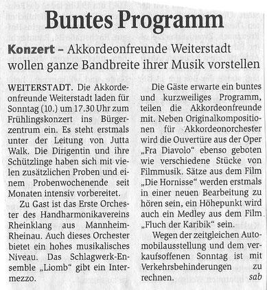Bericht zum Konzert 2011