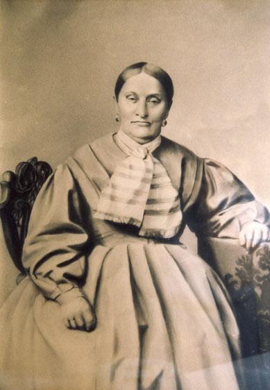 Katharina Baumann (Foto eines Gemäldes im alten Hauptbüro)