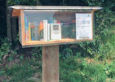 Die gut geschützte Bücherklappe ist neu an der Stockenstrasse. Bild: Bibliothek Gossau