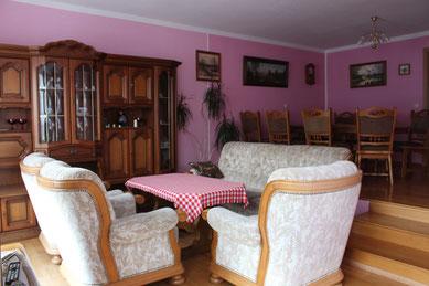 Wohnzimmer - Unterkunft - Ferienwohnung bei Kamenz und Bautzen / Oberlausitz