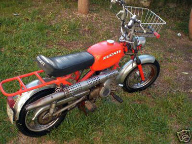"Mi primera Ducati Mini 3, ""La colorá"" (estado ""original"" antes de restaurarla)"