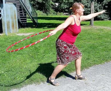 ideale Schleudertechnik mit langem Arm