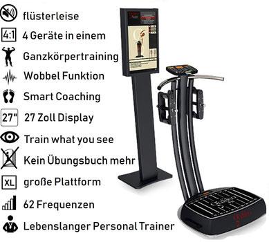 Vibrationsplatten, Vibrationstrainer, Vibrationstraining, Galileo Training, Test, gebraucht, kaufen, Preise, Vergleiche: www.kaiserpower.com