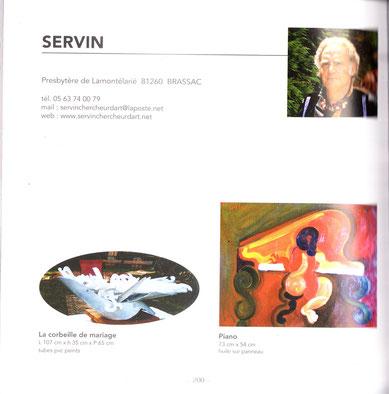une des deux pages consacrées à SERVIN