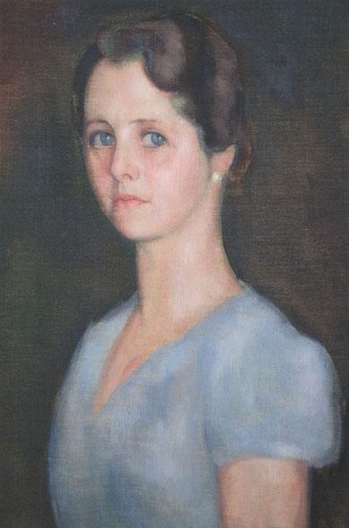 portretschilderij_vrouwenportret_dame in het blauw_portret