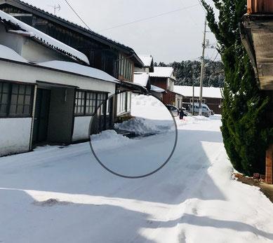 隠岐の島 京見屋分店 冬 雪景色