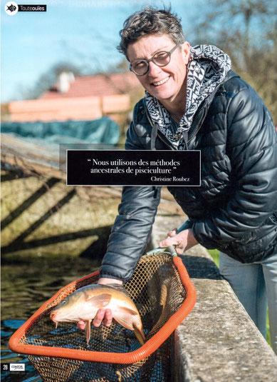 christine roubez - pisciculture des marais - association llb - pleure - jura - producteur