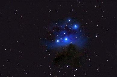 "NGC1977 - ""Running Man"" im Sternbild Orion am 12.02.2009, Celestron C9.25 (CG-5GT) mit Focalreducer, Canon EOS 450D im Primärfokus, 1.480 mm, f/6.3, 10x60sec, ISO 1600 ohne Guiding"