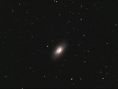 """Blackeye-Galaxie"" (M64) am 24.04.2009, Celestron C9.25 (CG-5GT) mit Focalreducer, Canon EOS 450Da im Primärfokus, 1.480 mm, f/6.3, 47 x 60sec (ohne Guiding), ISO 1600, IDAS LP2-Filter"