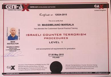 Operatore contro terrorismo Massimiliano Marsala