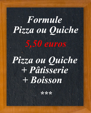 Au Croissant d'Or - Formules Pizza ou Quiche