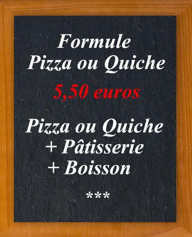 Au Croissant d'Or - Formules Pizza ou Quiche