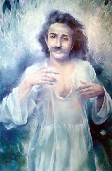 """Meher Baba in the forest"" - 1992 ; Mira Hocking - Courtesy of Dennis Schlaen"