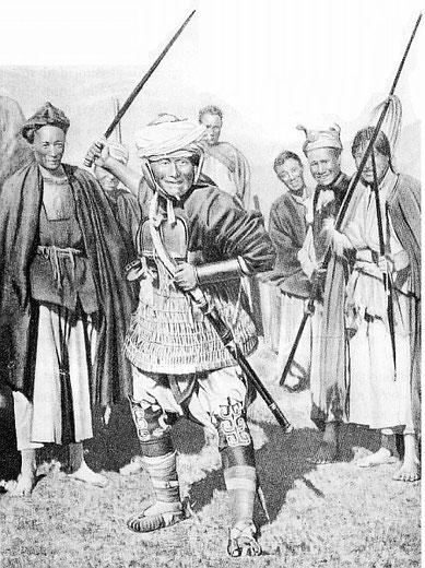 Chevalier lolo. Population autochtone du Yunnan