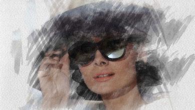 elaborazione-fotografica-photoshop_Colazione da Tiffany-Audrey Hepburn-effetto-pennello