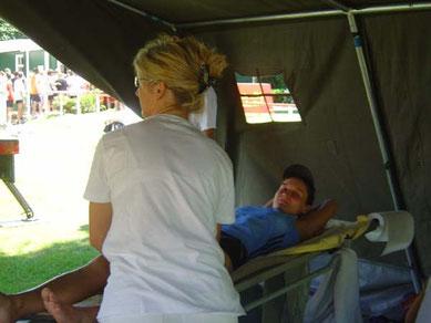 Massage nach 5 KM :-)