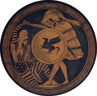 Après l'hégémonie de l'Empire perse, la Grèce devient la puissance prédominante avec, à sa tête, un célèbre conquérant : Alexandre le grand. La Grèce est représentée par un léopard ailé, ce qui illustre parfaitement l'expansion foudroyante de cet empire.