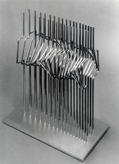 間 No.10  -  連続と不連続 <No.K-32>  / 1989 / stainless steel / H.45x30x20cm