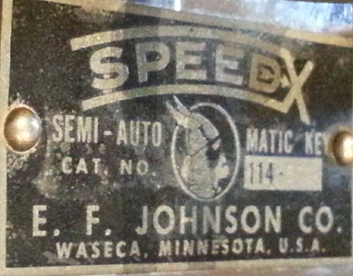 Speed-X 114-115 T frame E.F. Johnson - Plate