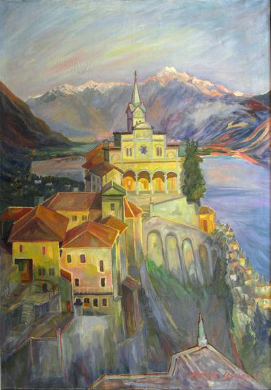Amud Uwe Millies (1932-2008): Orselina bei Locarno, 1956