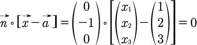 Berechnung der Normalenform