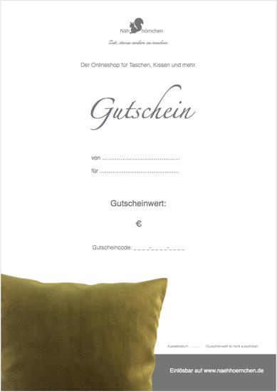 """Geschenkgut zum Ausdrucken (PDF) - Motiv """"Kissen"""""""