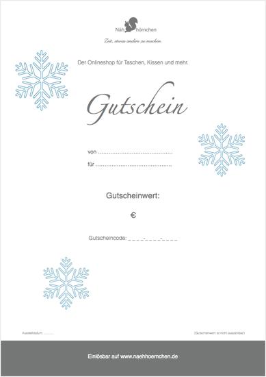 """Geschenkgut zum Ausdrucken (PDF) - Motiv """"Schneeflocke"""""""