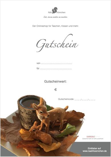 """Geschenkgut zum Ausdrucken (PDF) - Motiv """"Rehe"""""""