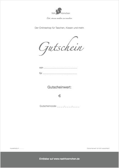 """Geschenkgut zum Ausdrucken (PDF) - Motiv """"Nähhörnchen"""""""