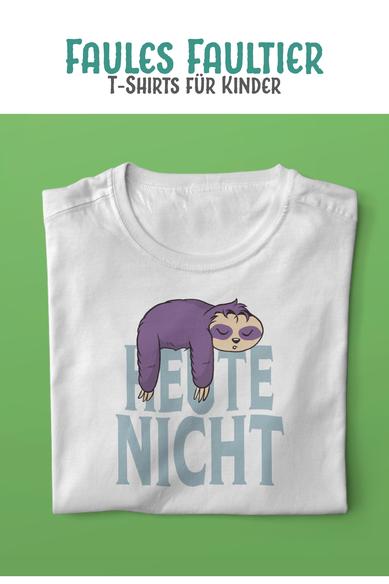 """Kinder T-Shirt mit Motiv Faultier und Schriftzug """"Heute nicht"""""""