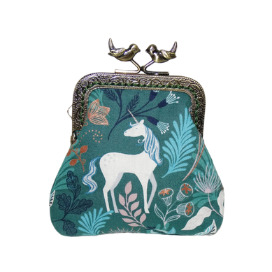 porte-monnaie femme bourse vintage shabby chic fleurs floral fleuri fermoir métallique