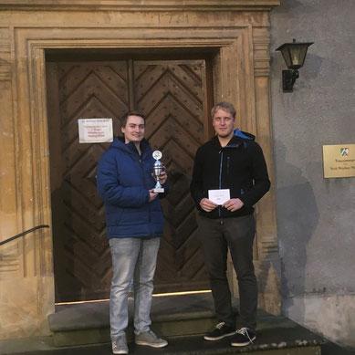 Pokalsieger Marius Kraft (li.) und Ratingspreisgewinner Henri Berner (Foto: R. Broich)