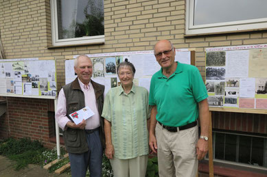 Robert Fischer (von links), Ida Fischer und Helmut Kieß