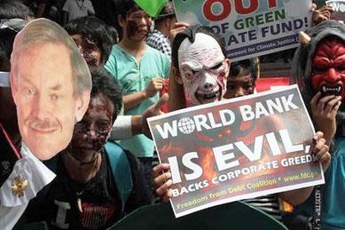 Protester mod Verdensbanken i Manila, Filppinerne