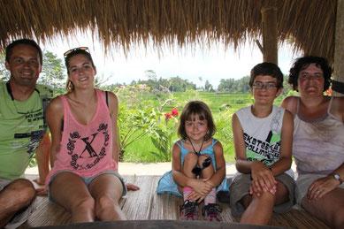 dans les rizières à Ubud