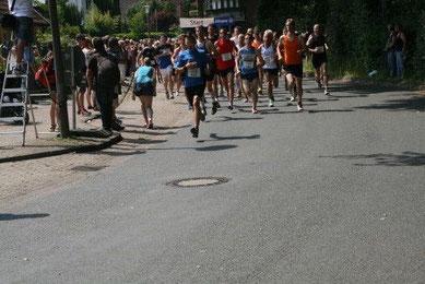 Insgesamt 599 Läufer waren am Start des 10 km-Laufes, davon 12 Teilnehmer und 2 Teilnehmerinnen aus unserem Lauftreff.