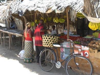 on a market in Tanzania