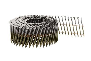Coilnägel auf Rolle drahtgebunden 2.5 mm Durchmesser - 55 mm Länge - blank - Ringschaft