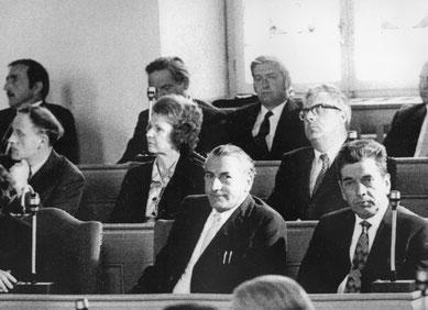 Elisabeth Lardelli um 1974 im Grossen Rat. (Bild Archiv FKA).