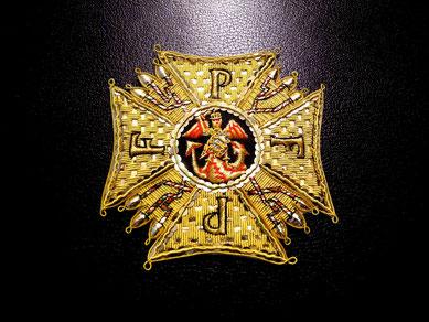 Bayern Köln Ritterorden vom Heiligen Michael Großkreuz gestickter Bruststern